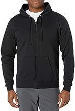 Hanes Men's Full-Zip Eco-Smart Hoodie, Black, Medium