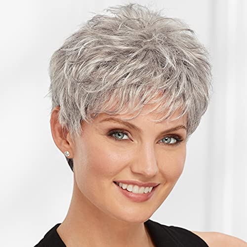 Vikki WhisperLite Wig by Paula Young - Short, Sassy Pixie Wig with Texture-Rich Layers and Natural Looking Hand-Tied Crown/Multi-tonal Shades of Blonde, Silver, Brown, and Red