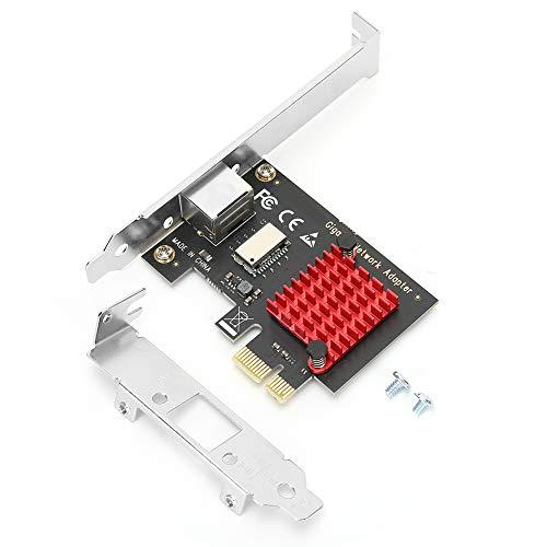 Heayzoki Ethernet-Kartenadapter, Ethernet-Kartenadapter Gigabit NIC Converter LRE8111 für Windows 7/8/9, PCIE-Funkkarte PCIE-Ethernet-Karte mit RJ45-Entstörungsdesign(8111H)