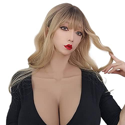 BODYDOM Silikon Brüste G Cup Crossdresser Große Tasse Fake Brüste Falsche Künstliche Brust Formen Für Transgender Transvestit Drag Queen (1, große G-Tasse (Seidenbaumwolle))