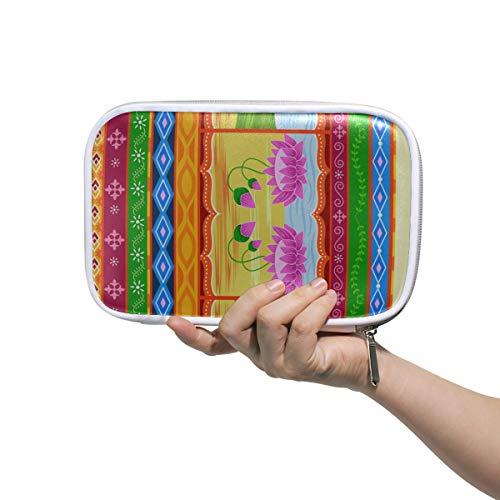 Make-up Fall für Mädchen Vektor-Design Blumen Kitsch Indische Make-up Bleistift Fall Phantasie stationäre Box Multifunktionale Reißverschluss Make-up Tasche für Männer Frauen