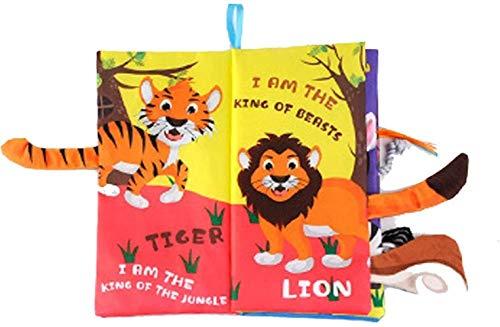 toy Libros silenciosos, puedes aprender de los sentidos, libros de diseño 3D para la comunicación de padres e hijos, libros para actividades de tela ocupadas y Navidad para niños entrenan (color: A)
