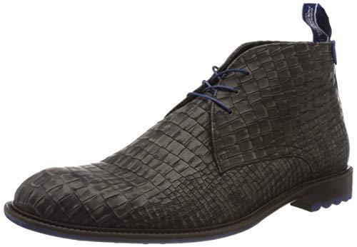 Floris van Bommel Herren 10203/23 Klassische Stiefel, Grau (Dark Grey Nubuck Croco 23), 44 EU