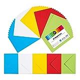 perfect ideaz 50 bunte Klapp-Karten DIN-A6 mit