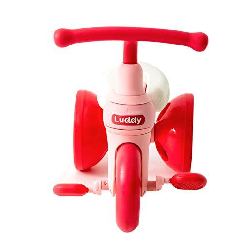 GIFT Enfants First Ride Trikes for Kids Toddlers Enfants Tricycle 3 Roue Vélo à Pédale pour 1 2 3 4 Ans Enfants Garçons Filles, Multicolore,Red
