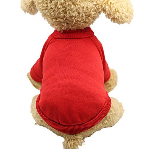Libarty Suéteres para Perros Otoño Invierno Mascota Cachorro Sudaderas con Capucha de Lana para Cachorros Ropa para Perros Traje cálido Suministros para Mascotas