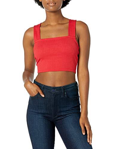 Roxy Good Sunday Crop Top en tricot pour femme - Rouge - Taille XL