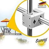 Sonnenschirmhalter Balkongeländer - Sunnystar, der Edle aus Aluminium - Exklusiver Balkon...