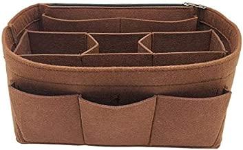 LEXSION Felt Handbag Organizer,Insert purse organizer Fits Speedy Neverfull 8001 Brown M