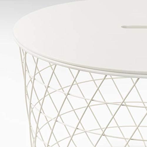 Mesa de almacenamiento KVISTBRO de Rangoon, color blanco, 61 cm duradero y fácil de cuidar. Mesas auxiliares y mesas auxiliares. Mesas y escritorios. Muebles. Ambientable.