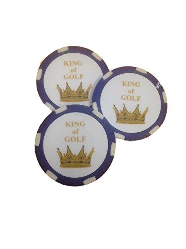 CEBEGO Golf Ballmarker KING OF GOLF im Roulettedesign,Roulettemarker Golf,Ballmarkierungswerkzeuge, Golfgeschenkartikel
