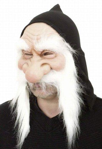 Déguisement masque gnome blanc
