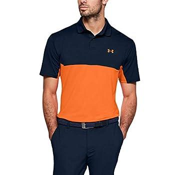 Under Armour Golf Performance Polo 2.0 Color Block Academy/Orange Spark SM