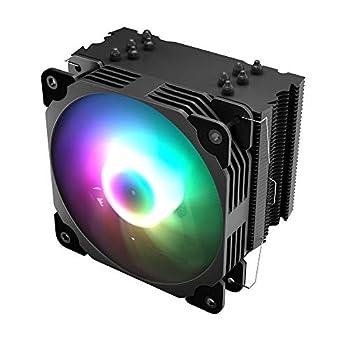 Vetroo V5 CPU Air Cooler w/ 5 Heat Pipes 120mm PWM Processor 150W TDP Fan Intel LGA 1200 115X / AMD Ryzen AM4 Universal Socket w/Addressable RGB Lights Sync V5 Black