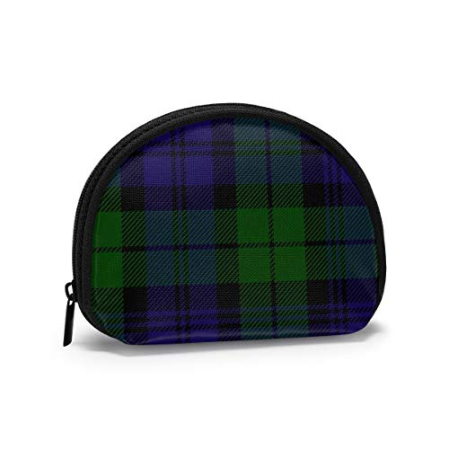 A Cuadros Escoceses Verde Negro Azul Campbell Tartan Monedero Cambio de Efectivo Bolsa Cremallera Monedero pequeño Carteras Bolsa de cosméticos Bolsa de Almacenamiento