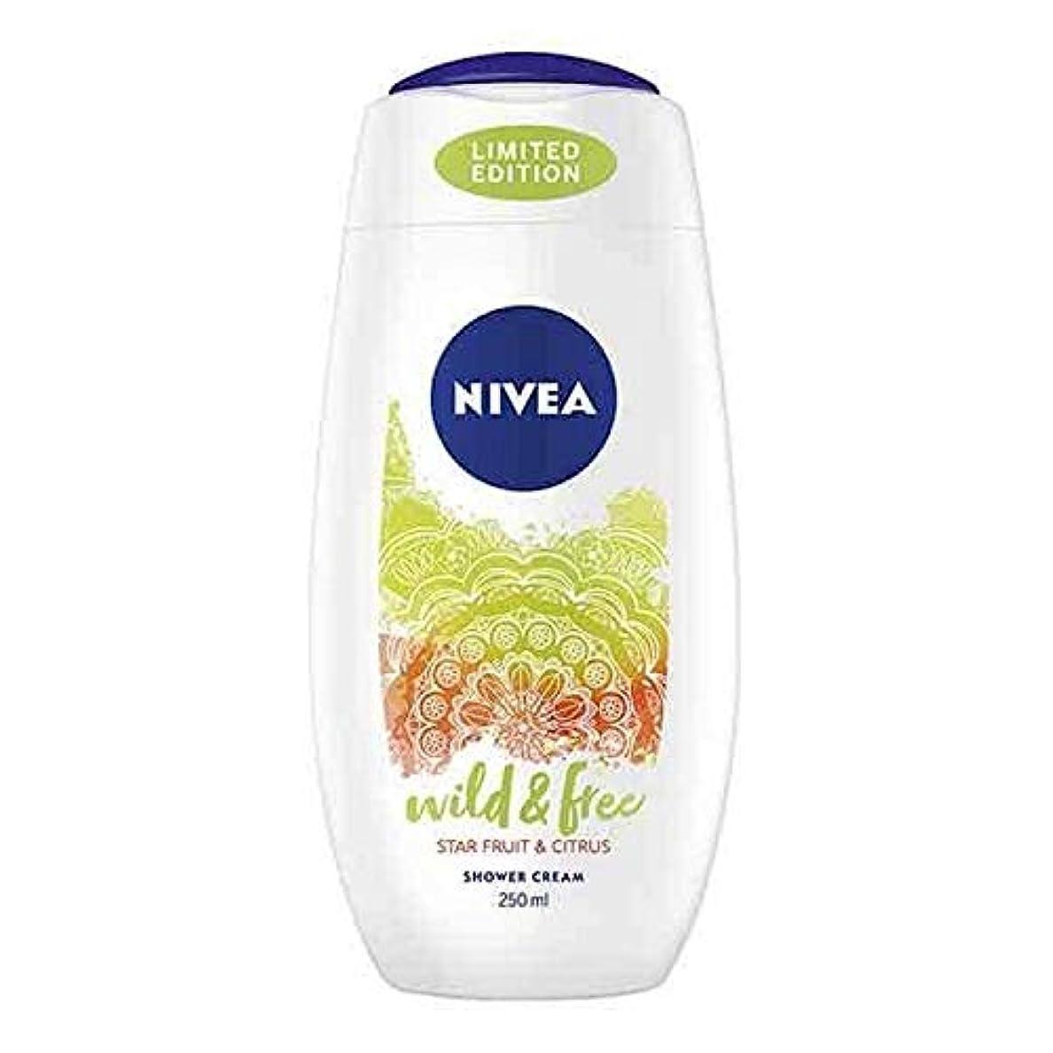 ランドリー戸惑うロボット[Nivea ] ニベアシャワーワイルド&無料シトラス250ミリリットル - NIVEA Shower Wild & Free Citrus 250ml [並行輸入品]