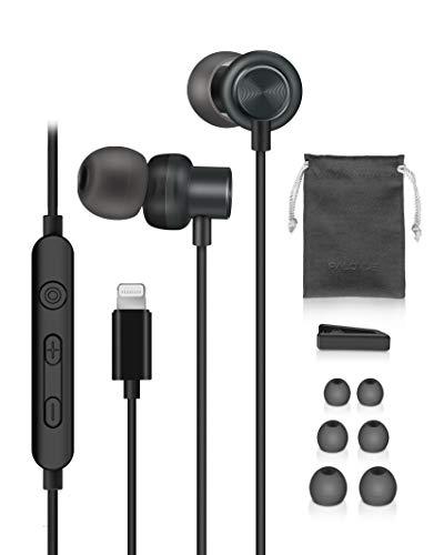 Earflow Plus Lightning-Kopfhörer, MFi-zertifiziert, kompatibel mit iPhone 12 11 Pro Max iPhone X XS Max XR iPhone 7 8 Plus mit Mikrofon Controller