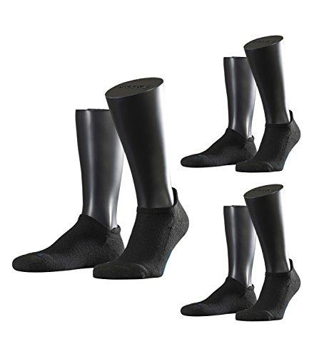 FALKE Unisex Sneaker Laufsocken Sportsocken Cool Kick 16609 3 Paar, Farbe:Schwarz, Größe:39-41, Artikel:-3000 black