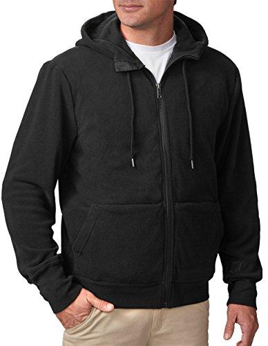 SCOTTeVEST Hoodie Microfleece - Black Sweatshirt for Men with 21 Pockets - Travel Clothing XL