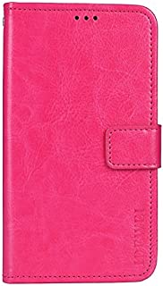 CASE BOX Vodafone Smart N10 Phone Case,Flip wallet with card slots cover for Vodafone Smart N10(Pink)