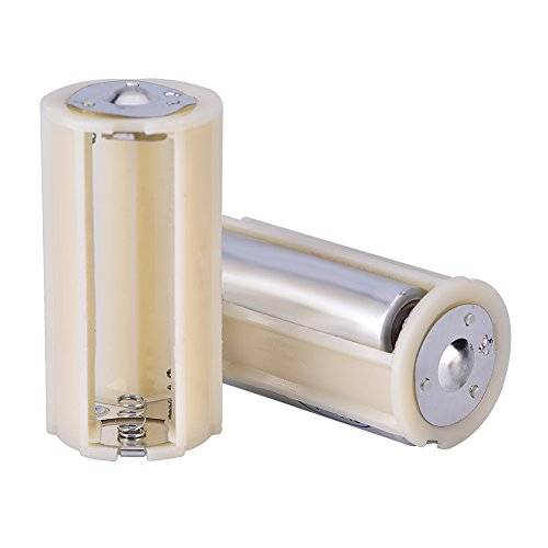 3AA naar 1 D batterij converter, winnaar 10 stuks 3AA naar 1 D serie connector adapter converter draagbare batterij houder doos, kleine batterij converter