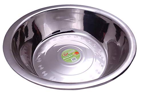 Uniware 40 QT Stainless Steel Mixing Bowl, Super Large, 55cm x 14cm(21.6' x 5.5'), Big Mixing Bowl, Mixing Bowl for Big Family, Mixing Bowl for Baking, Mixing bowl Tall (2)