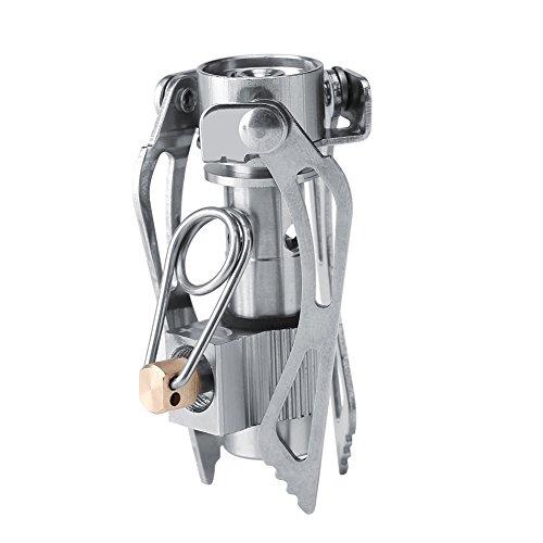 Garosa en Acier Inoxydable Mini-cuisinière à gaz Portable Pique-Nique en Plein air Pliable Brûleur de Cuisine Camping Batterie Kit Brûleur Camp Poêle Randonnée Cuisine Équipement de Cuisson