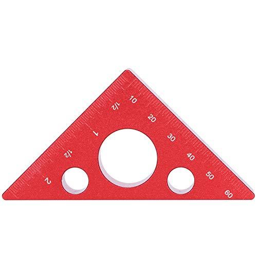 Regla triangular, herramienta de medición de ángulos gruesos Regla de altura Regla de precisión de medición para medir la altura para medir la altura Herramienta de medición para carpinteros