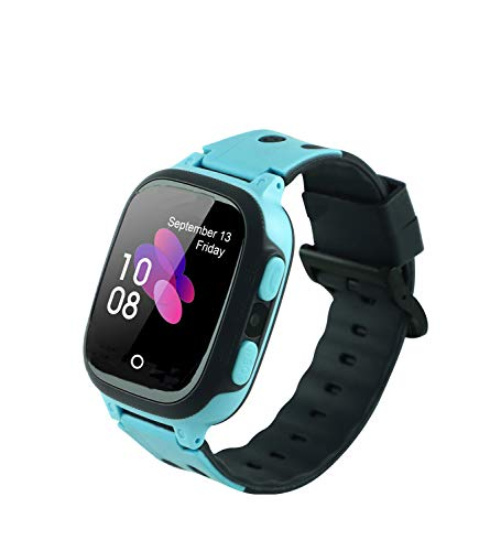 Sekyo Smartwatch Kids AGPS/LBS Tracking Watch with Mobile Tracking, SOS, Calling Function for Kids Safety, GPS smartwatch for Kids Girls Boys,S1-Blue