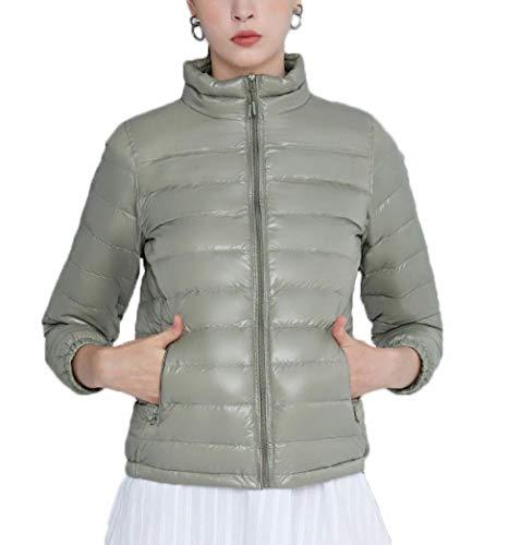 N / A Daunenmantel Damen,warme Damen Winter Jacke Parka Mantel Stepp Kurzjacke gefüttert-Grün_Medium