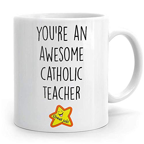 N\A Maestro católico, Regalo de Maestro católico, Taza de Maestro católico, aprecio de Maestro católico, Maestro católico Gracias, Taza católica, Regalo Familiar