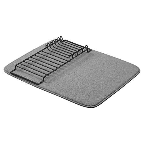 Amazon Basics - Estantería de secado, 41x46cm / 16x18', color carbón/negro, con 2 esterillas