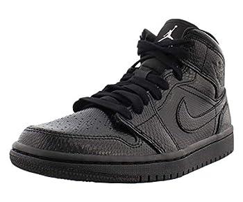 Air Jordan 1 Mid Womens Bq6472-010 Size 8 Black/Black-White