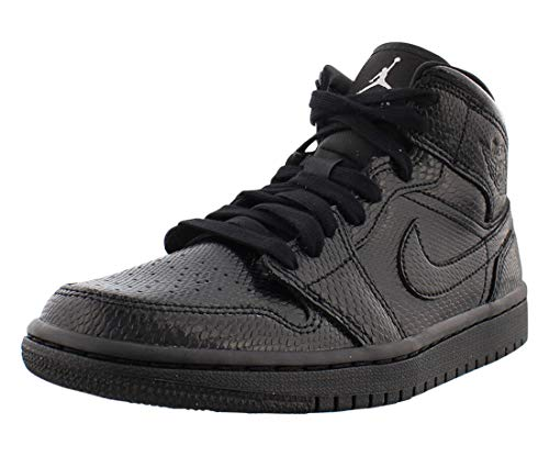 Nike Damen WMNS AIR Jordan 1 MID Basketballschuh, Black Black White, 39 EU
