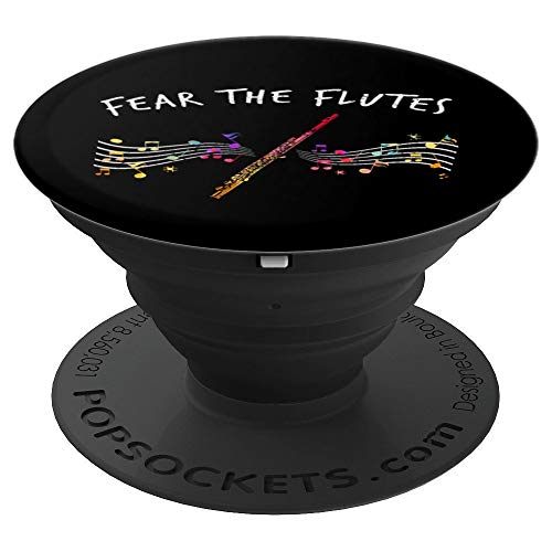 Fear The Flutes Marching Band Gifts Music Flute PopSockets Grip and Stand for Phones and Tablets
