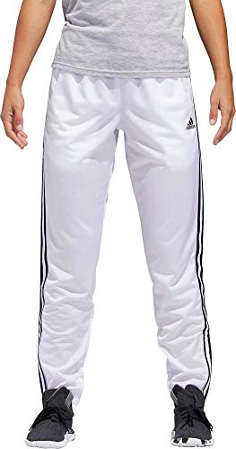 adidas Womens Essentials Tricot Tapered Track Pants White Medium