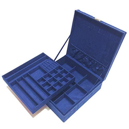 Eysee Portagioie per collane, Orecchini, Anelli, 20,2 x 10,2 x 15,2 cm, Colore: Mode 2 Blau, cod. JB-OT-0001