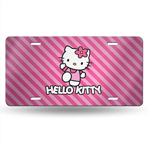 Suzanne Betty Aluminum License Plates - Hello Kitty License Plate Tag Car Accessories 12 X 6 Inches