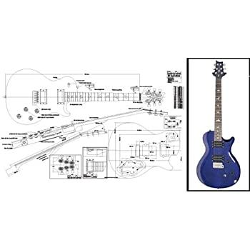 Plan de PRS Singlecut single-cutaway guitarra eléctrica – escala ...
