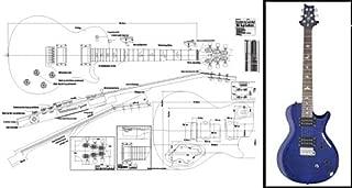 Plan of PRS Singlecut Single-Cutaway Electric Guitar - Full Scale Print