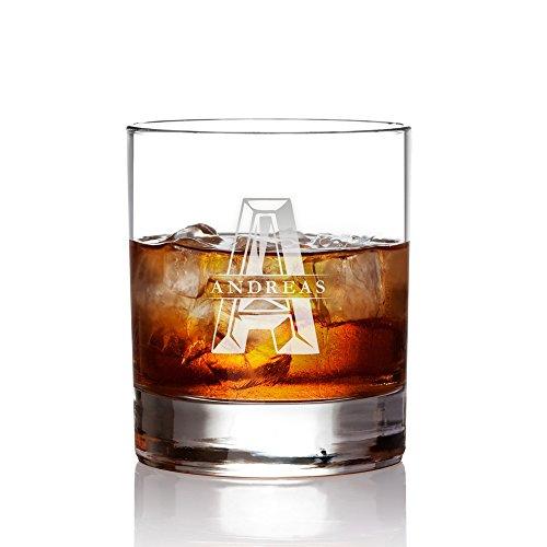 AMAVEL Bicchiere Tumbler da Whisky in Vetro - Incisione...