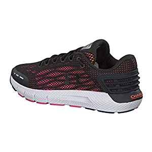 Under Armour Women's Charged Rogue Running Shoe, Jet Gray (105)/Peach Plasma, 7