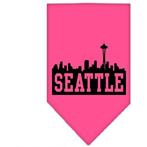 Mirage Seattle Skyline Bandana sérigraphié Rose Vif Taille L