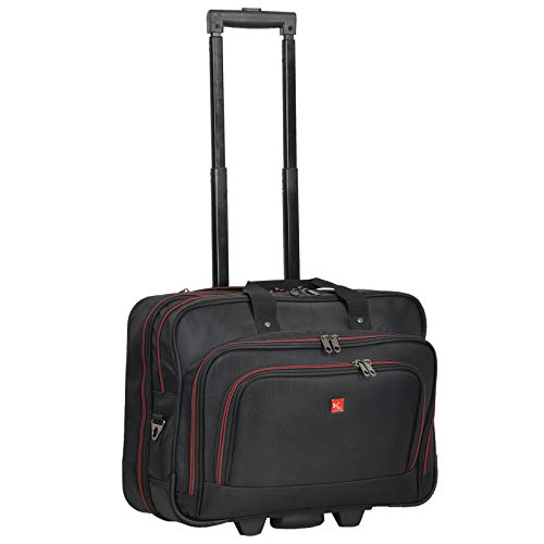 Trolley Business XL Pilotentrolley Keanu Manager Laptoptrolley Trolly Koffer Amsterdam (Schwarz)