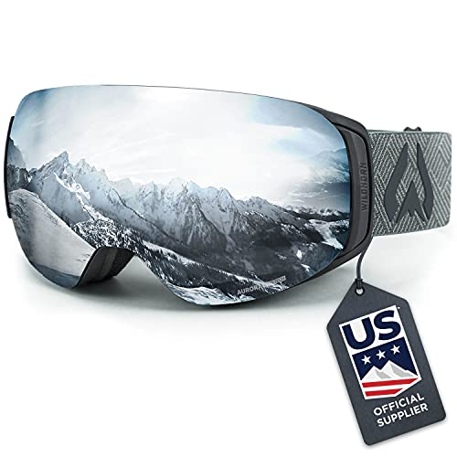 WILDHORN Outfitters Roca Snowboard & Ski Goggles - US Ski Team Official Supplier - Interchangeable Lens - Premium Snow Goggles