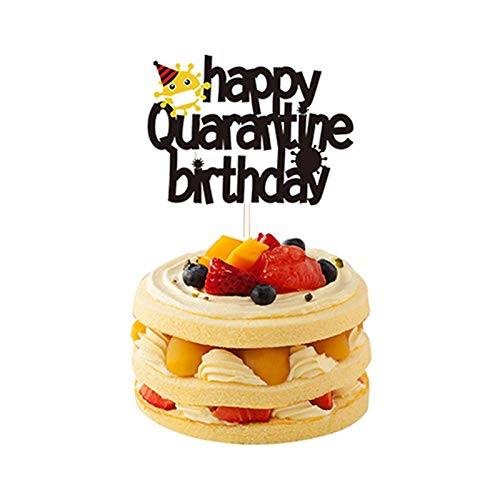 Happy Quarantine Birthday Cake Topper Decorations Happy Quarantine Birthday Party Decor Social Distancing Party Favors .