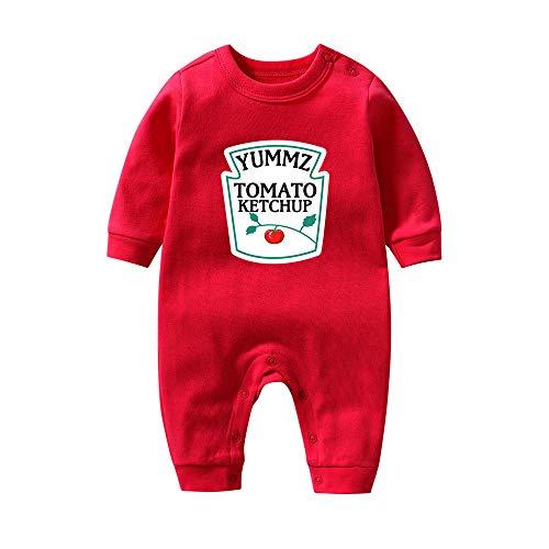 culbutomind Yummz Tomaat Ketchup Geel Mosterd Rood en Geel Bodysuit Baby Jongen Tweelingen Babykleding Tweelingen Baby Jongens Meisjes