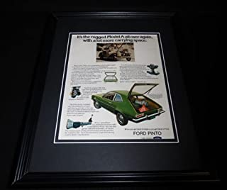 1972 Ford Pinto Framed 11x14 ORIGINAL Vintage Advertisement