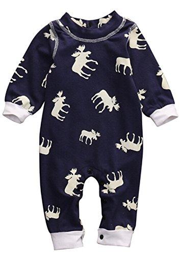 QTONGZHUANG Pijamas de una Pieza_Pendiente de explosión de bebé de niña de una Pieza de Navidad, 90cm