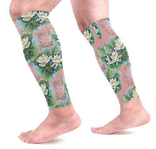 IMERIOi Wildwasser Lilly Flowers Sport Kalb Kompressionsärmel Bein Kompressionssocken Wadenschutz für Laufen, Radfahren, Mutterschaft, Reisen, Krankenschwestern